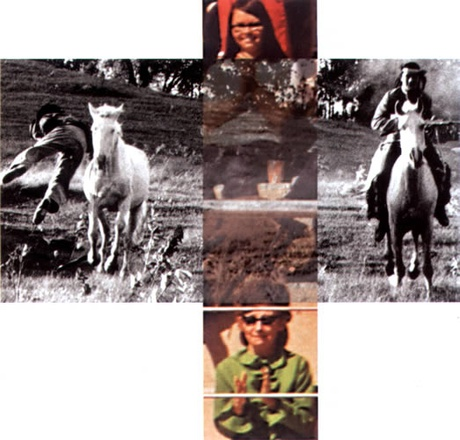 John Baldessari: The Intersection Series: Person On Horse And Person Falling From Horse (With Audience) (2001/2002)