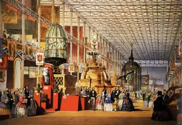 """The western (British) nave of the chrystal palace, weltausstellung, London 1851"