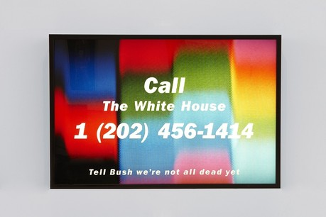 "Donald Moffett, ""Call the White House"", 1990, Courtesy of the artist and Marianne Boesky Gallery"