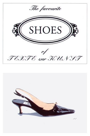 "Olaf Nicolai, ""The Favorite Shoes Of Texte Zur Kunst"" (2002)"