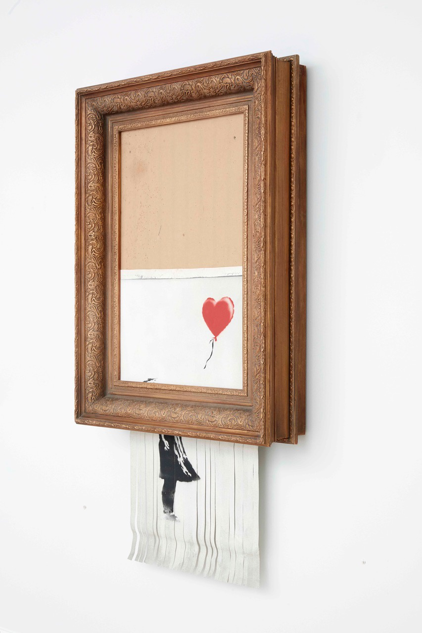 "Banksy, ""Love is in the Bin"", 2018"