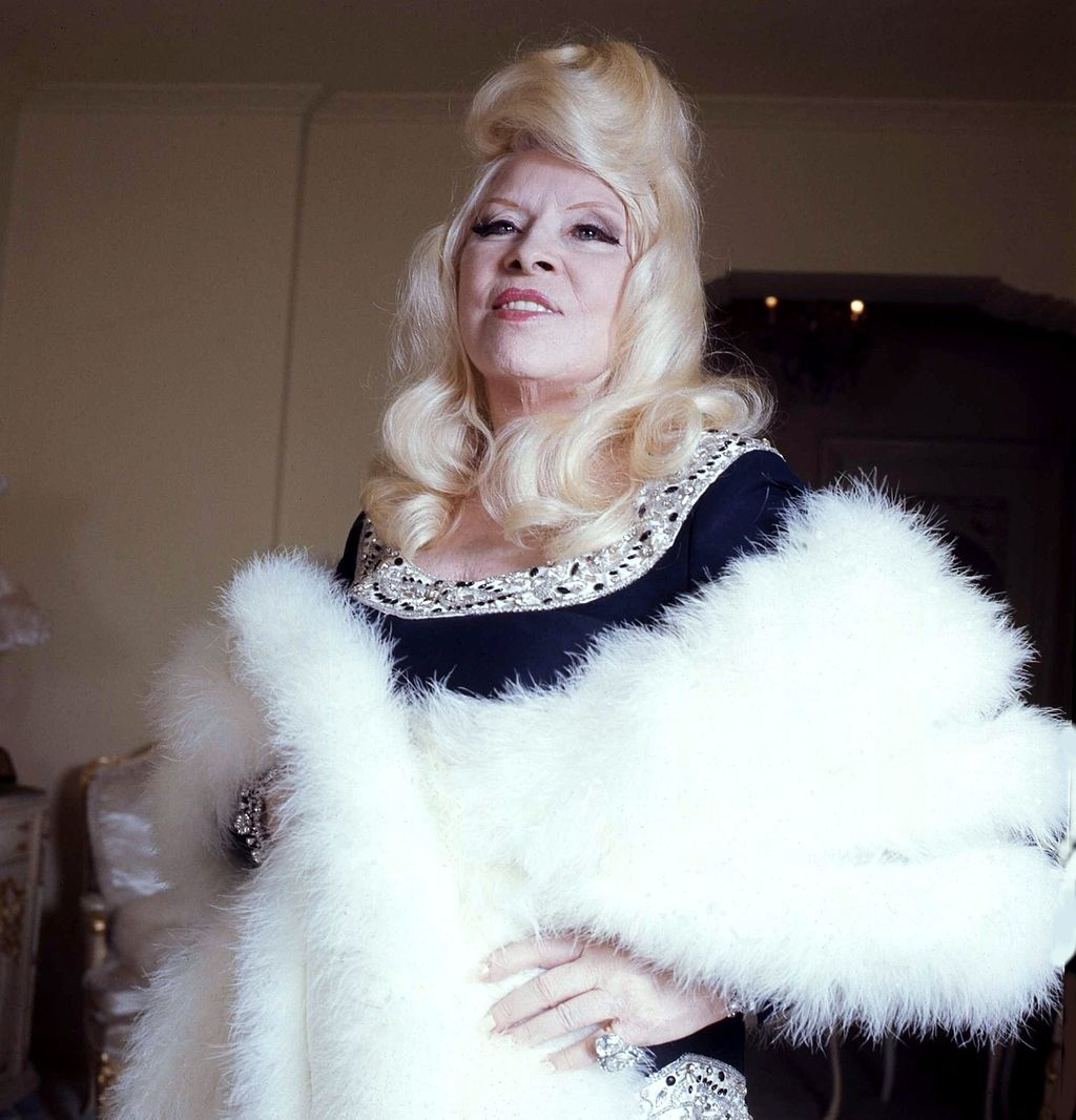 Mae West in her apartment in Los Angeles, 1973