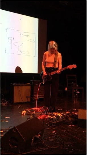 Kim Gordon performing at Cold Chills, 2018