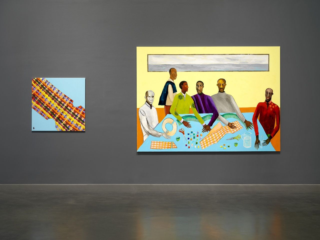 """Lubaina Himid: Work from Underneath,"" New Museum, New York, 2019, installation view"